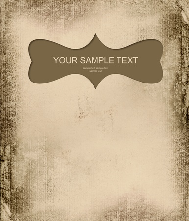 grunge background with frame Stock Photo - 8446497