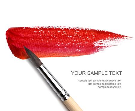 beroerte: onbezonnen en rode verf sketch Stockfoto