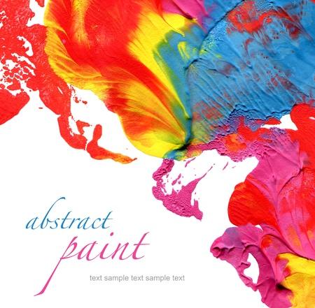 acrylics: abstract acrylic paint background  Stock Photo