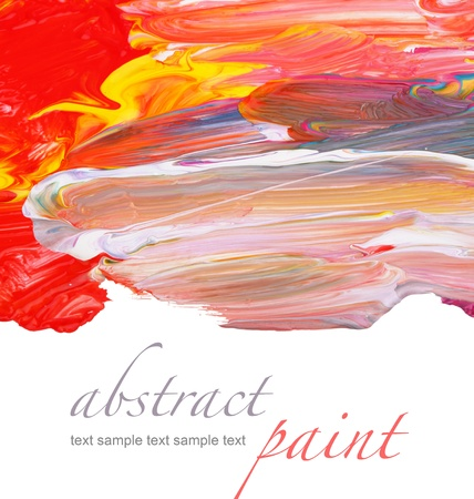 oil on canvas: Abstract painted background Stock Photo