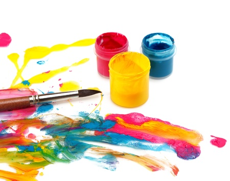 Paint brush and colors  photo