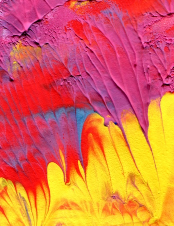 color image creativity: abstract acrylic paint
