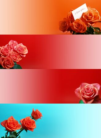 web banners with roses photo