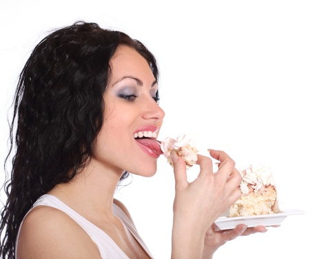 Woman with cake  photo