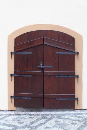 wicket gate: wood door