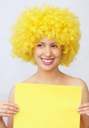 beautiful blonde young woman  photo