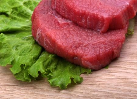 vlees: rauw vlees Stockfoto