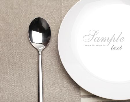 empty plate with spoon photo