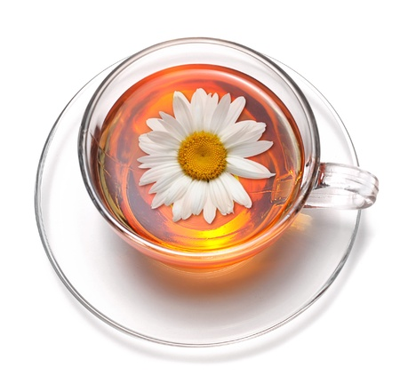 tea with flower photo