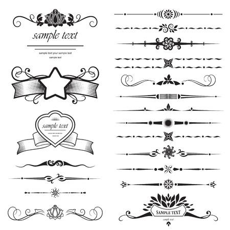 calligraphique: Ensemble d'?l?ments de conception