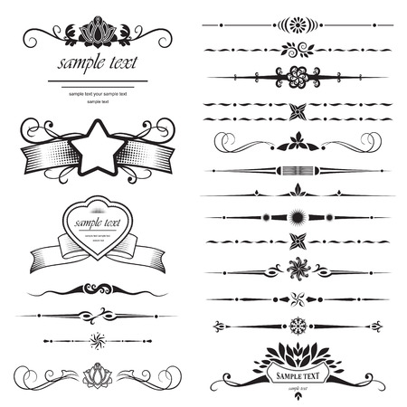 set of design elements Stock Vector - 9072286