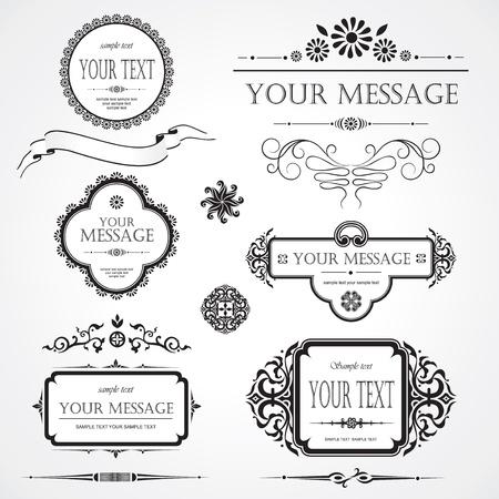 set of design elements Stock Vector - 9233158