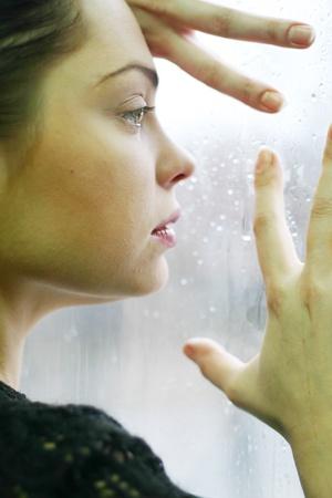 woman and window photo
