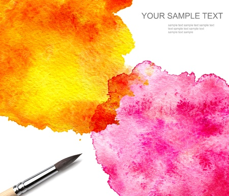 brush and abstract watercolor paint Stock Photo - 9239756