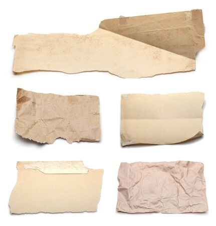 set of various ripped pieces of paper photo