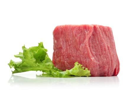 steak cru: viande crue