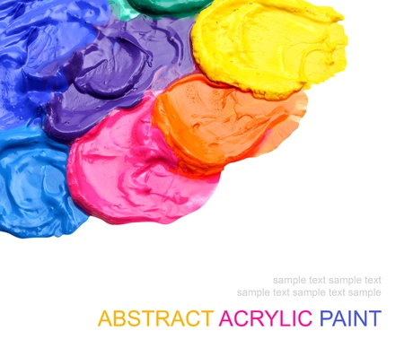Abstract acrylic painted background photo