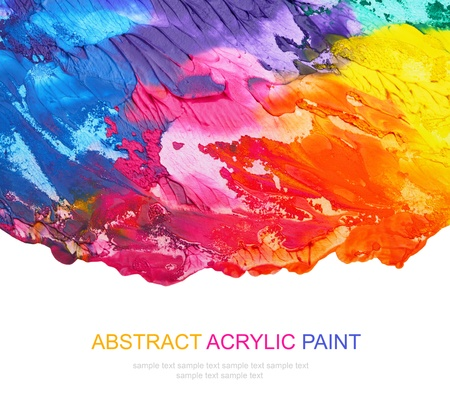 Abstract acrylic painted background Stock Photo - 9485714