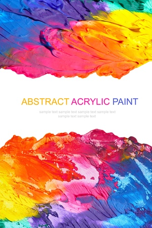 messy paint: Abstract acrylic painted background