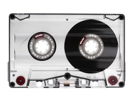 audio cassette: old audio cassette
