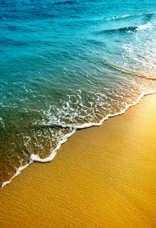 water and sand photo