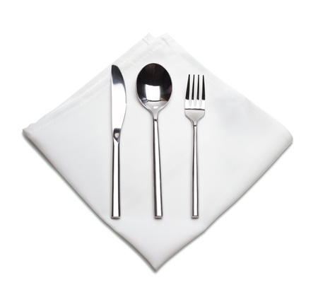 fork, spoon and knife photo
