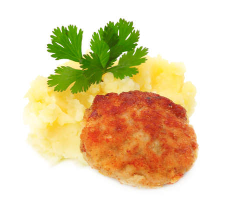 mashed: roasted cutlets of pork with potato