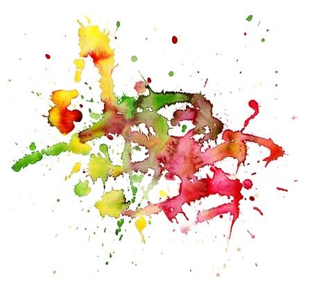 blotches: abstract watercolor blot Stock Photo