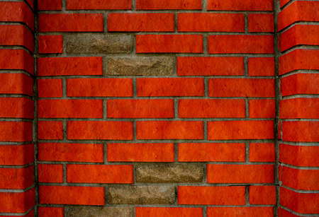 Red brick wall background photo