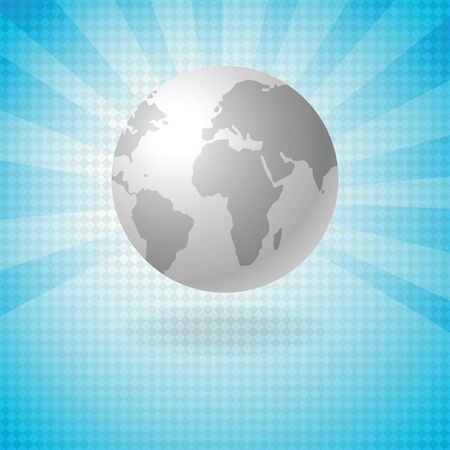 background with globe Stock Vector - 11743399