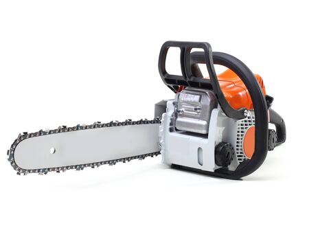 sawyer: chainsaw isolated on white