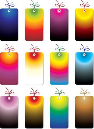 trinket: set of tags Illustration