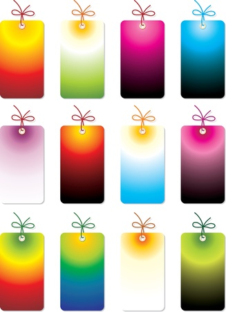 discount coupon: set of tags Illustration
