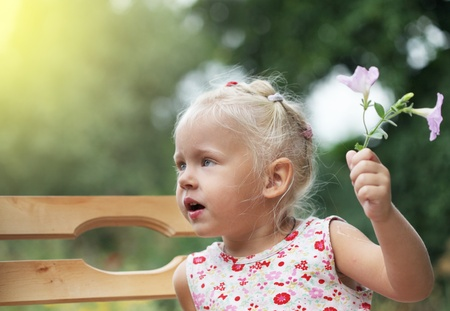 Portrait of a little baby child girl Stock Photo - 12957257