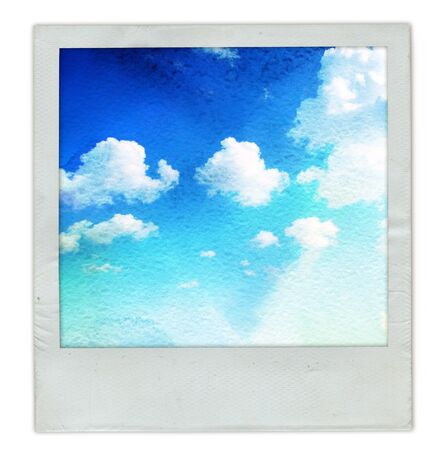 old instant photo frame photo