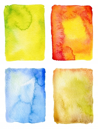 Abstract watercolor painted backgrounds Stock Photo