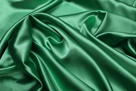 green silk fabric background
