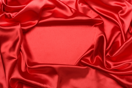 silk: red silk fabric background Stock Photo