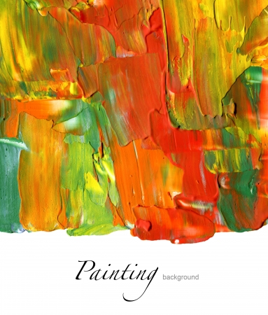oil color: Abstract acrylic painted background