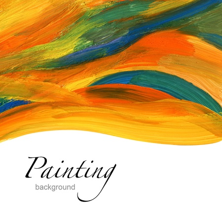Abstracte acryl geschilderde achtergrond