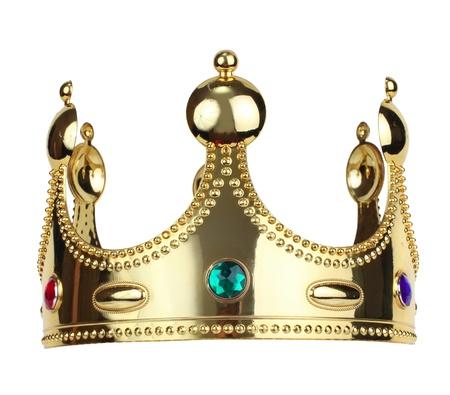 trono: corona del rey del oro Foto de archivo