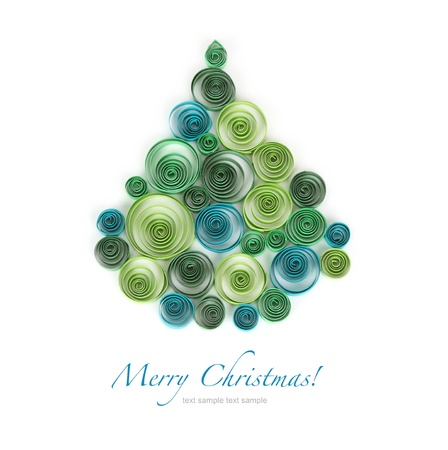 curling paper Christmas tree photo