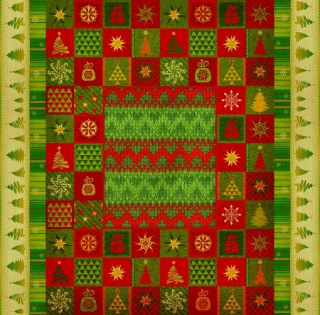 Christmas ornament carpet photo