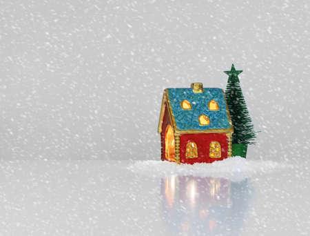 Christmas festive light in house Stock Photo - 16783407