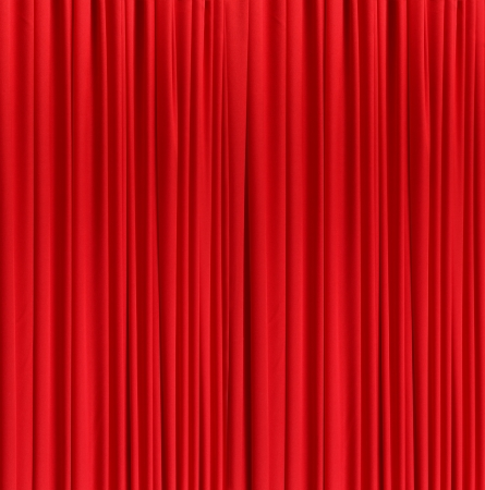 red silk curtain background photo