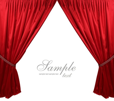elegance: Red theater curtain background Stock Photo
