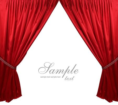 cortinas rojas: Roja teatro cortina de fondo