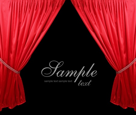 red curtain: Red theater curtain background Stock Photo