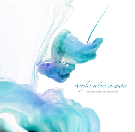 ink drops: Acrylic colors in water. Abstract background.