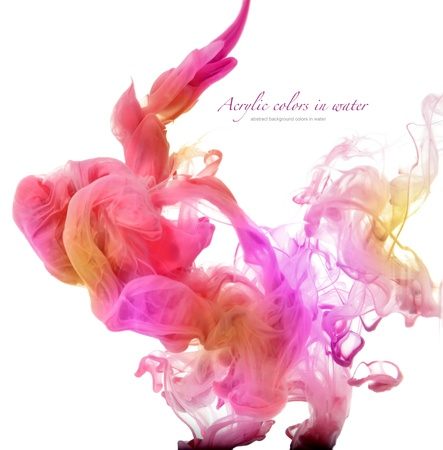 abstract smoke: Acrylic colors in water. Abstract background.